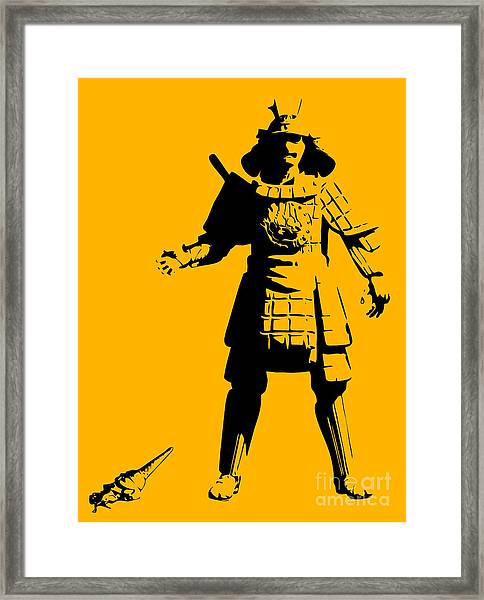 Samurai Fail Framed Print