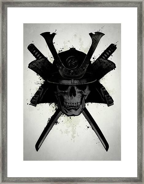 Samurai Skull Framed Print