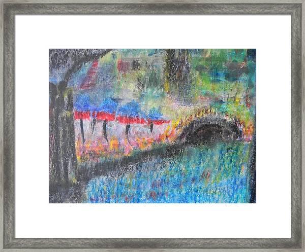 San Antonio By The River I Framed Print