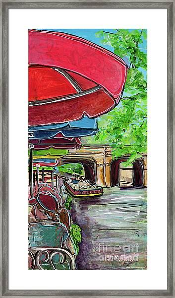 San Antonio River Walk Cafe Framed Print
