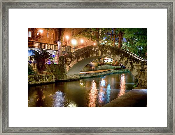 San Antonio River Walk V1 Framed Print