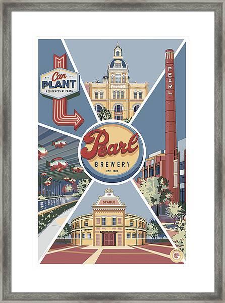 San Antonio's Pearl Framed Print