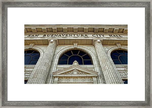 San Buenaventura City Hall Framed Print