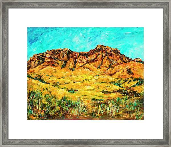 San Cristo Mountains Framed Print