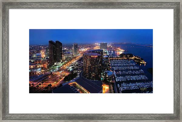 San Diego Bay Framed Print