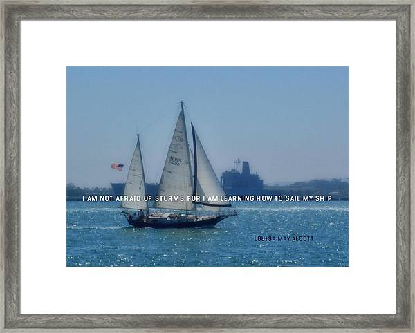 San Diego Bay Quote Framed Print