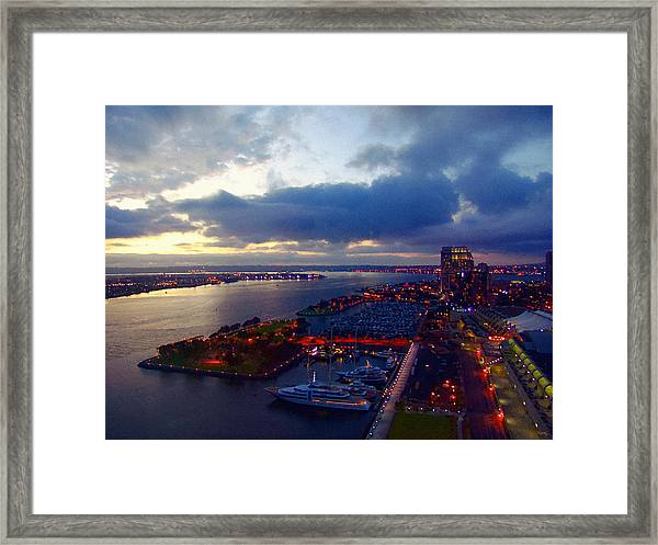 San Diego By Night Framed Print