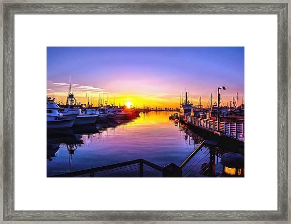 San Diego Harbor Sunrise Framed Print