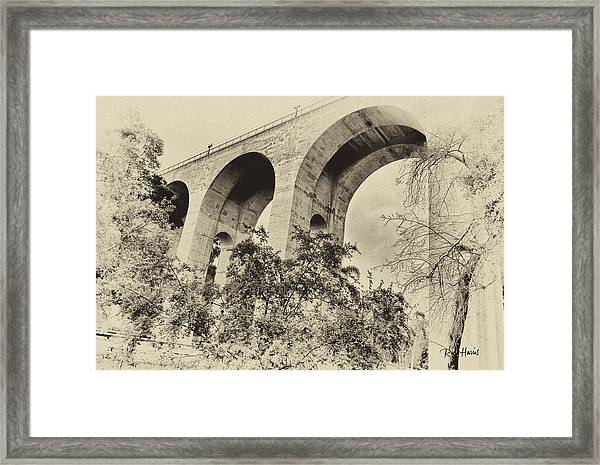 San Diego Historical Cabrillo Bridge Framed Print by Russ Harris