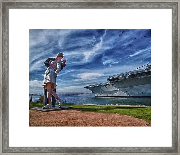 San Diego Sailor Framed Print