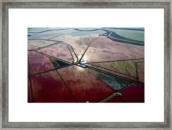 San Francisco Bay Salt Flats 1 Framed Print by Sylvan Adams