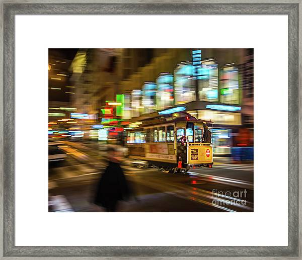 San Francisco Cable Car Framed Print