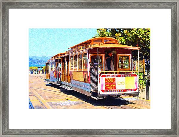 San Francisco Cablecar At Fishermans Wharf . 7d14097 Framed Print