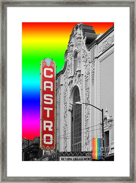 San Francisco Castro Theater . 7d7579 Framed Print
