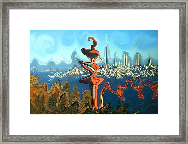 San Francisco Earthquake - Modern Artwork Framed Print