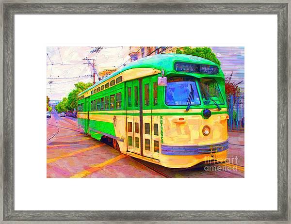 San Francisco F-line Trolley Framed Print