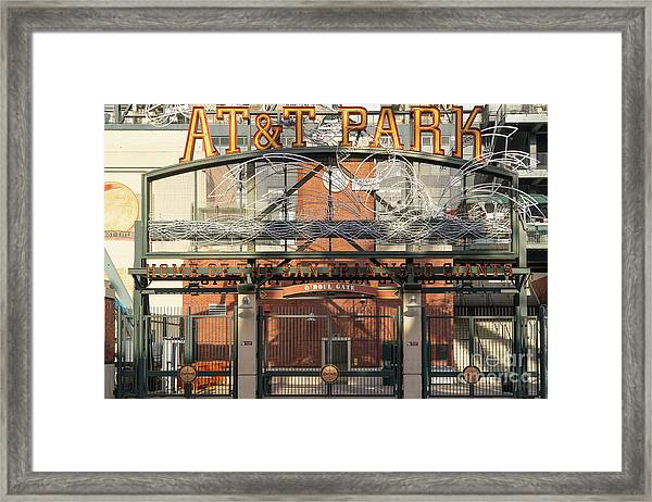 San Francisco Giants Att Park Juan Marachal O'doul Gate Entrance Dsc5778 Framed Print