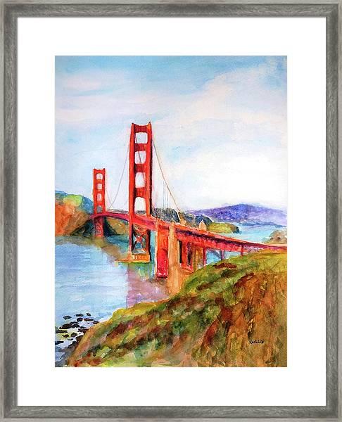 San Francisco Golden Gate Bridge Impressionism Framed Print