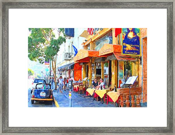 San Francisco North Beach Outdoor Dining Framed Print