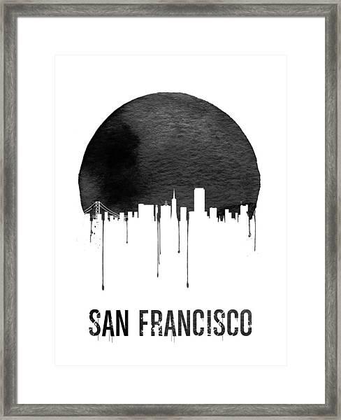 San Francisco Skyline White Framed Print