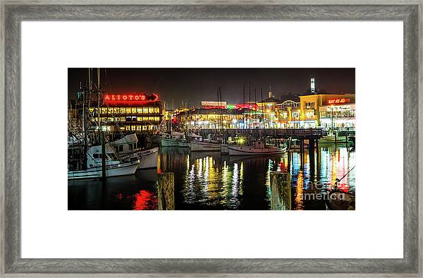 San Francisco's Fisherman's Wharf Framed Print