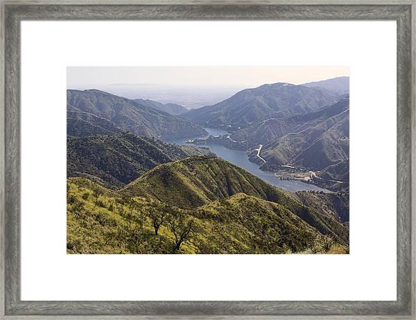 San Gabriel Canyon Reservoir Framed Print