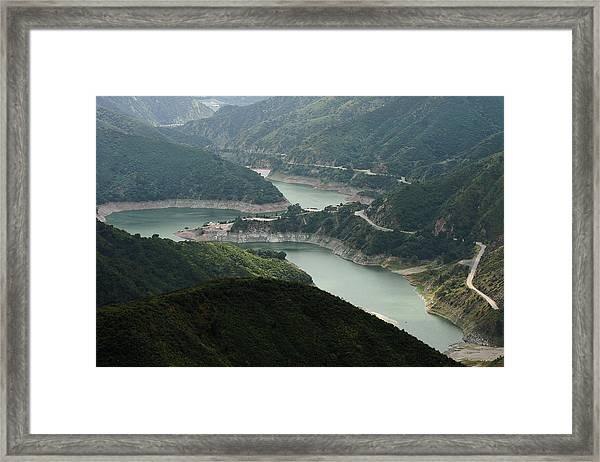 San Gabriel Dam Framed Print
