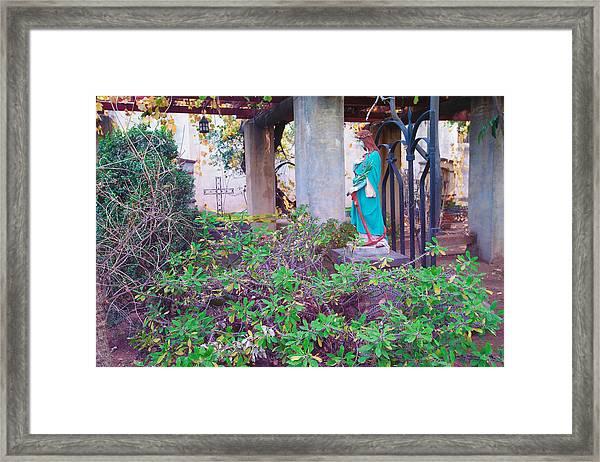 San Gabriel Mission California - Virgin Mary Framed Print