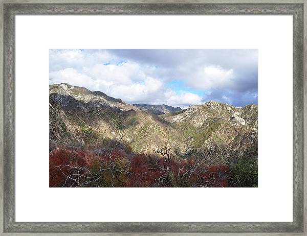 San Gabriel Mountains National Monument Framed Print