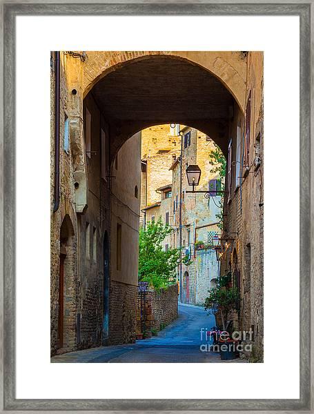 San Gimignano Archway Framed Print