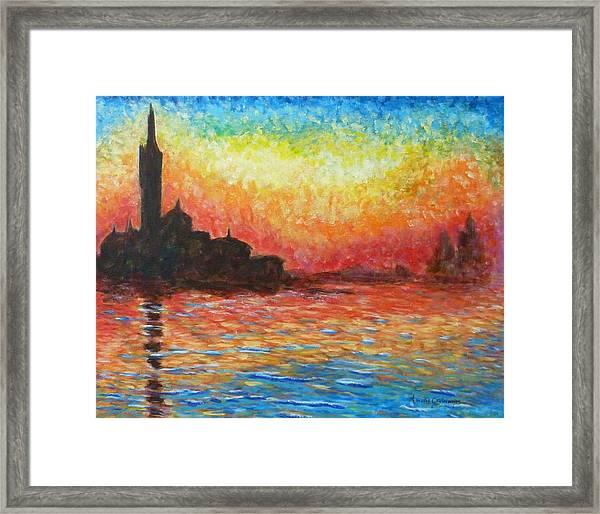 San Giorgio At Dusk Framed Print
