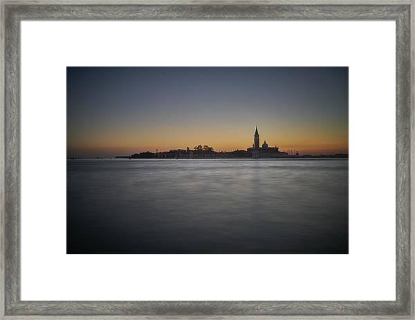 San Giorgio Sunset 0933 Framed Print