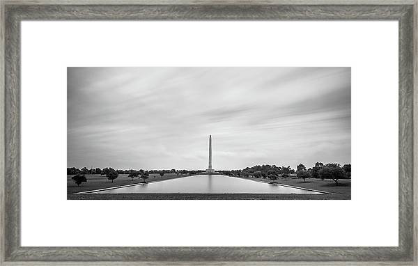 San Jacinto Monument Long Exposure Framed Print