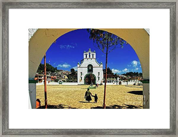 Framed Print featuring the photograph San Juan Chamula Church In Chiapas, Mexico by Sam Antonio Photography