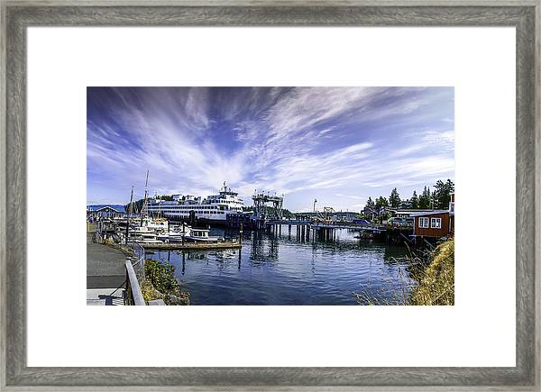 San Juan Island Ferry Framed Print