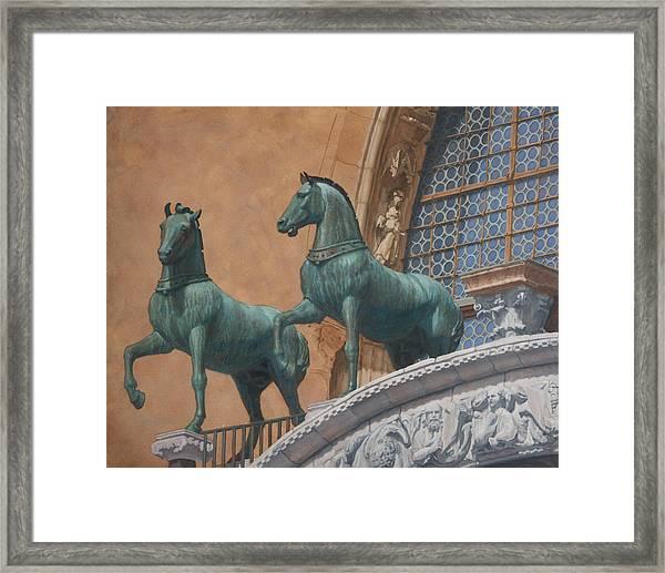 San Marco Horses Framed Print