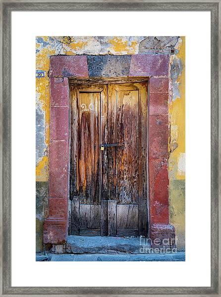 San Miguel Old Door Framed Print