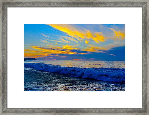 San Pancho Sunset Framed Print