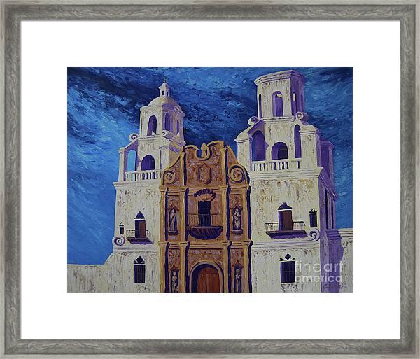 San Xavier Framed Print