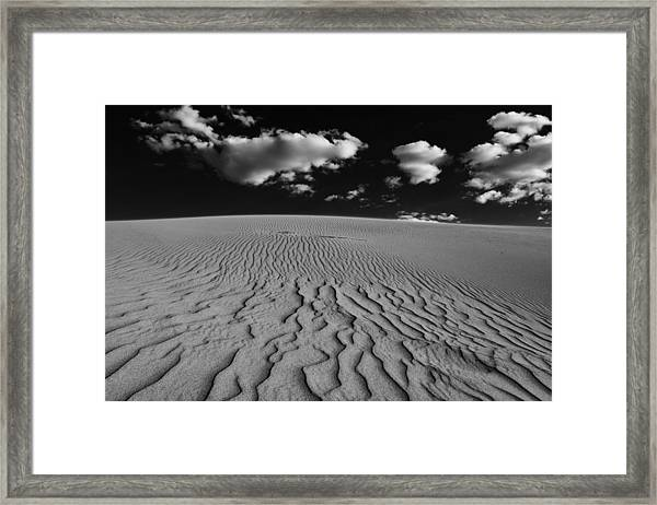 Sand And Sky Framed Print