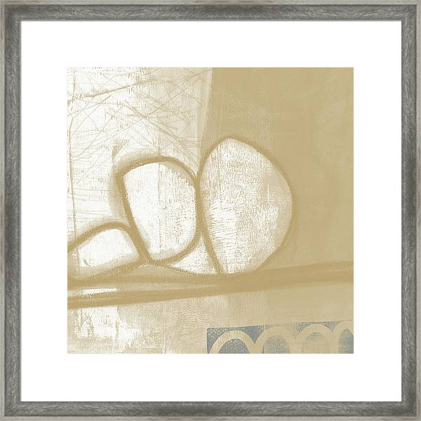 Sand And Stone 1- Contemporary Abstract Art By Linda Woods Framed Print