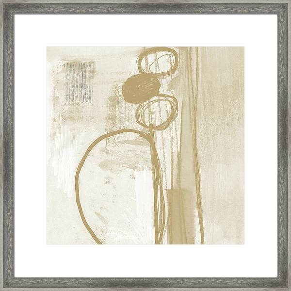 Sand And Stone 2- Contemporary Abstract Art By Linda Woods Framed Print