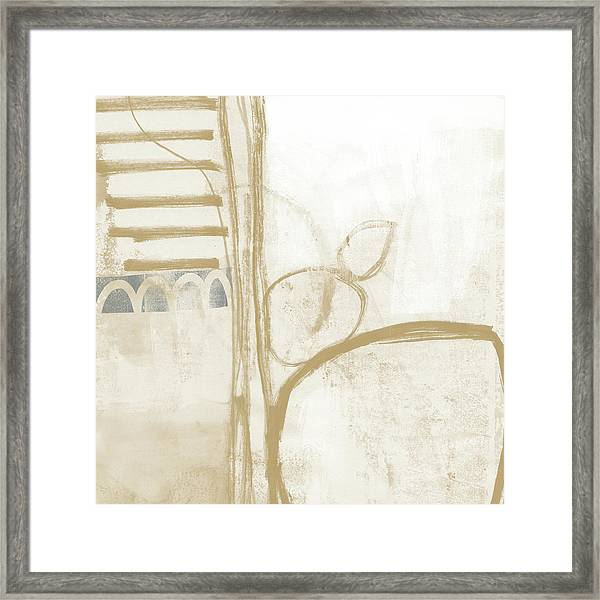 Sand And Stone 3- Contemporary Abstract Art By Linda Woods Framed Print