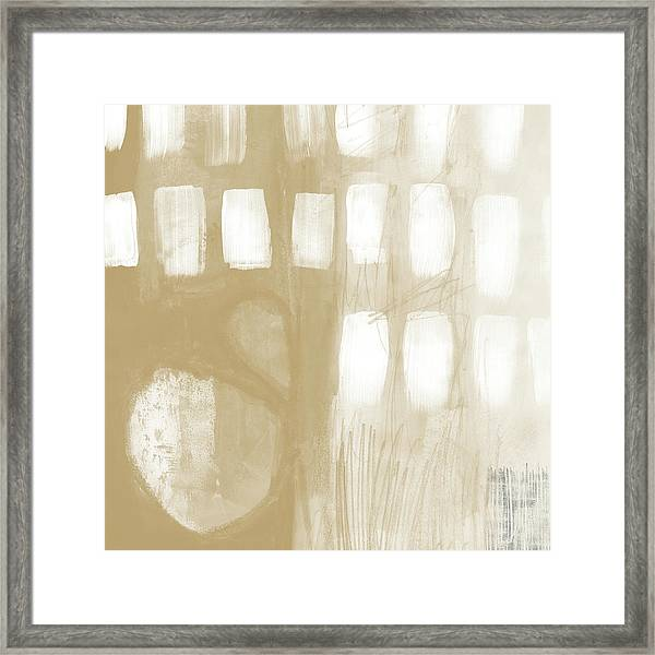 Sand And Stone 4- Contemporary Abstract Art By Linda Woods Framed Print