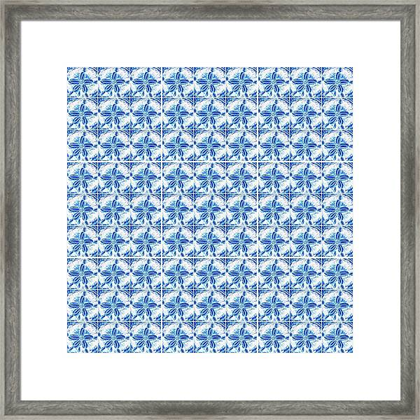 Sand Dollar Delight Pattern 1 Framed Print