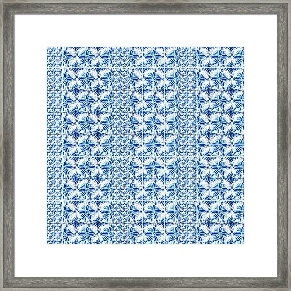 Sand Dollar Delight Pattern 2 Framed Print