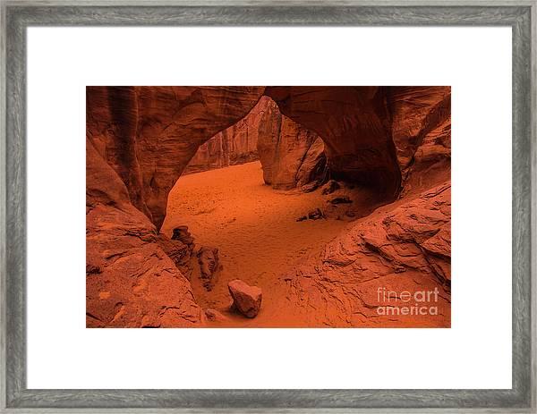 Sand Dune Arch - Arches National Park - Utah Framed Print