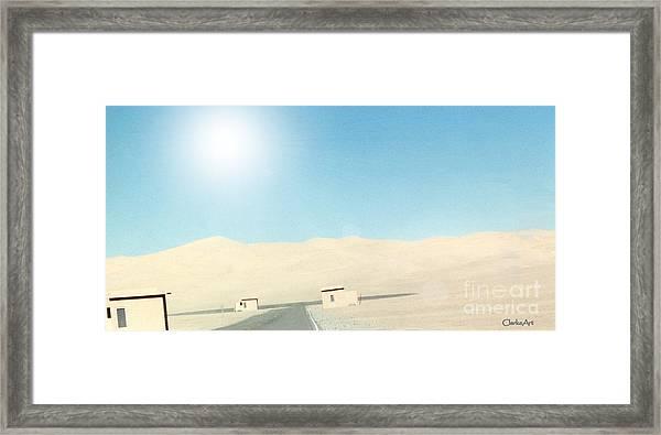Sand Dune Surreal Framed Print