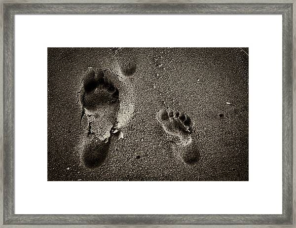 Sand Feet Framed Print