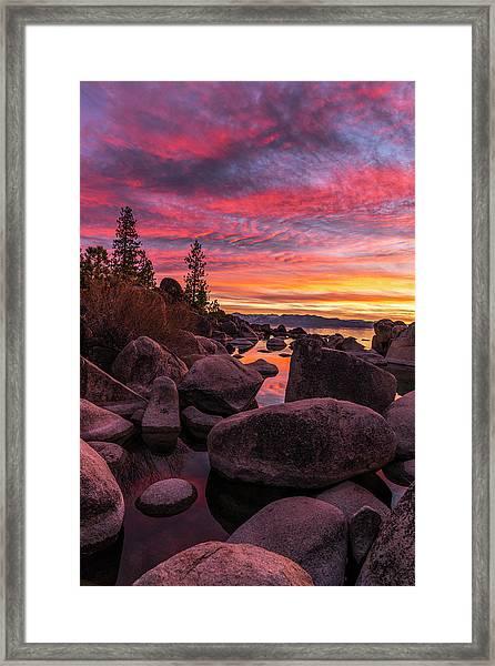 Sand Harbor Beach Framed Print